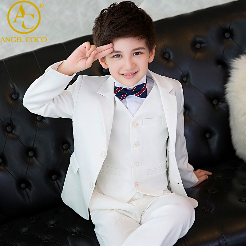Boys suits for weddings Blue Kids Prom Suits Wedding Suits Kids tuexdo Children Clothing Set Boy Formal Classic Costume 5pcs/set
