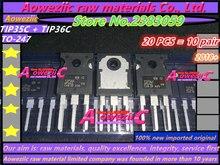 Aoweziic 2018 + 100% ใหม่นำเข้าเดิม TIP35C TIP36C TIP35 TIP36   247 power หลอดทรานซิสเตอร์เครื่องขยายเสียงหลอด