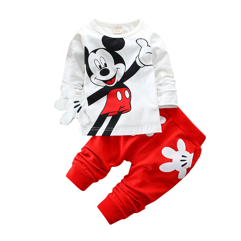 CHCDMP Boys Girls Clothing Sets Children Cotton Sport Suit Kids Minnie Cartoon T-shirt And Pants Set Baby Spring Fall Clothes
