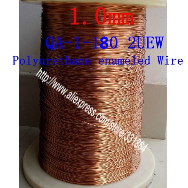 ФОТО Copper Wire  enameled Repair  1.0mm *100m / pcs   Polyurethane enameled Wire free shipping