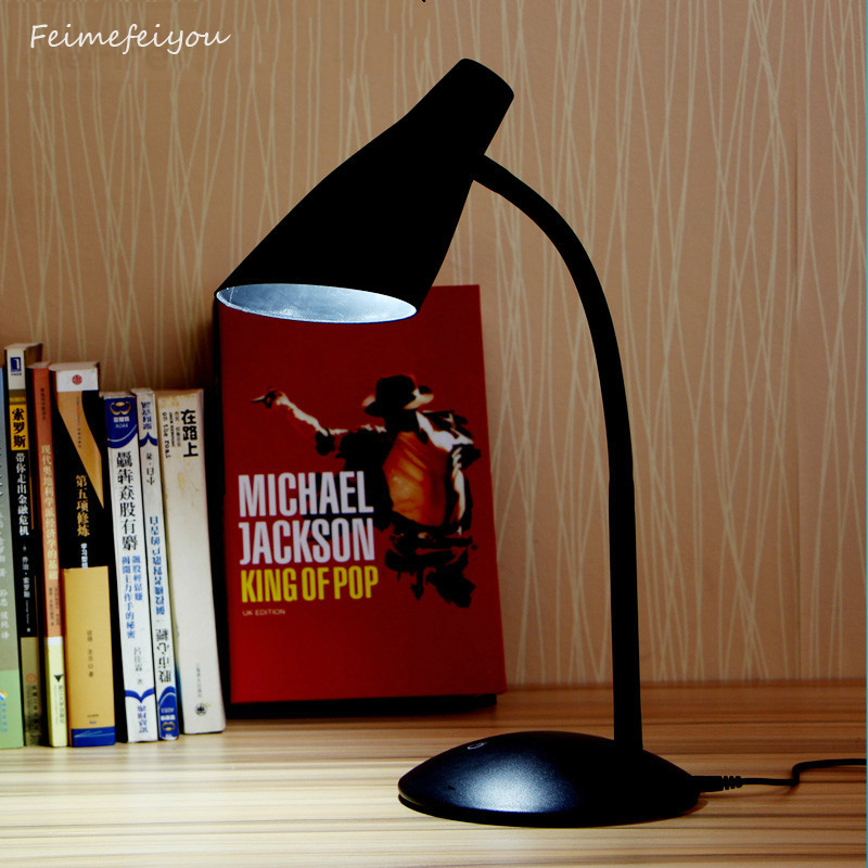 где купить Feimefeiyou Eye Protection LED Desk Lamp 3-level Touch Control Flexible shape Bedside Reading Study Office Table Light по лучшей цене