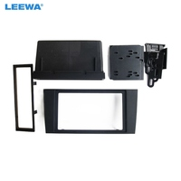 LEEWA 2Din Car Stero CD/DVD Radio Frame Fascia for Audi A4 2000 2004 Dash Panel Face Plate Bezel Trim Mount Kit #CA1996