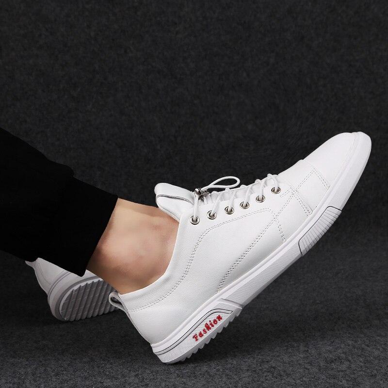 Rommedaille chaussures à lacets hommes solide blanc couleur noire en cuir véritable homme chaussures décontractées loisirs mocassins confortables mocassins chaussures mocassins