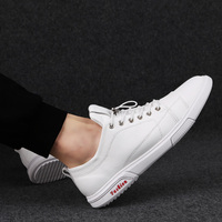 Rommedal lace up men shoes solid white black color genuine leather male casual shoes leisure comfortable moccasins loafer shoes