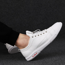 Rommedal lace-up men shoes solid white black color genuine leather male casual shoes leisure comfortable moccasins loafer shoes