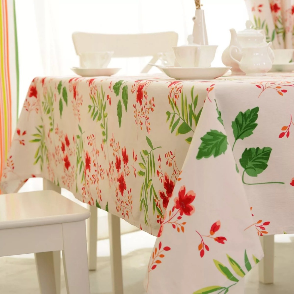 Wonderful Cotton Thick Cherry Tablecloth Small Floral Tablecloth Restaurant  Restaurant Tablecloth Home Textile Products(China (