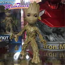Moward Groot Wisun Movie Tree Man Baby Action Figure Galaxy Guard II Tree Baby Groot 6 Inch Statue Genuine Boxed Hand Model Gift guardians of the galaxy 2 dj baby dancing tree man statue resin action figure collectible model decoration toy party supplies