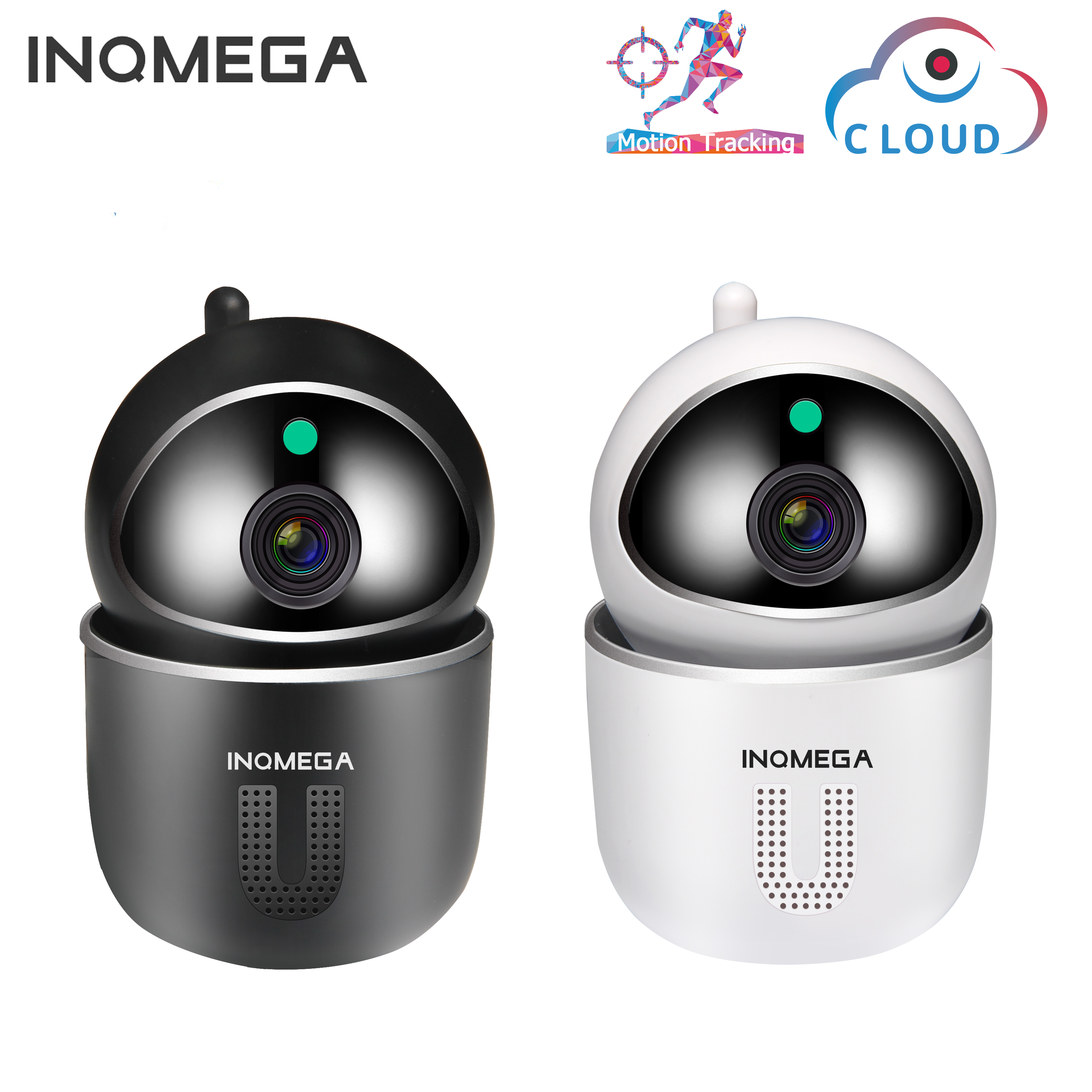 INQMEGA U Shape 1080P  Cloud IP Camera Auto Tracking Intelligent   Home Security Wireless WiFi CCTV Camera With Net Port Baby M