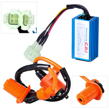 Check Discount CITALL Motorcycle Racing Performance Ignition Coil + CDI Box Fit for GY6 50cc 125cc 150cc Scooter ATV Go Kart Moped