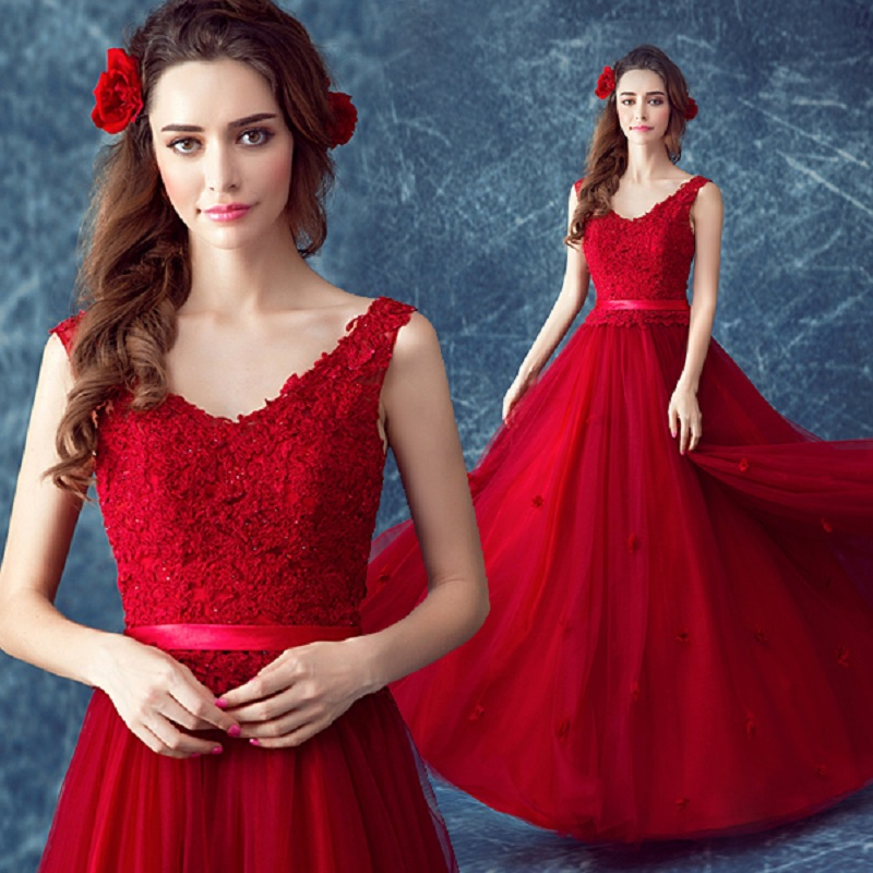 2019 new arrival stock maternity plus size pregnent women party Red Lace <font><b>dress</b></font> Deep V Collar Princess Slim <font><b>sex</b></font> <font><b>evening</b></font> <font><b>dress</b></font> 495 image