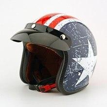 Apoyo EE Calidad Capitán América Retro Motocross Capacete Casco de Moto Cascos de Motos Hombres Y Mujeres Unisex XY01