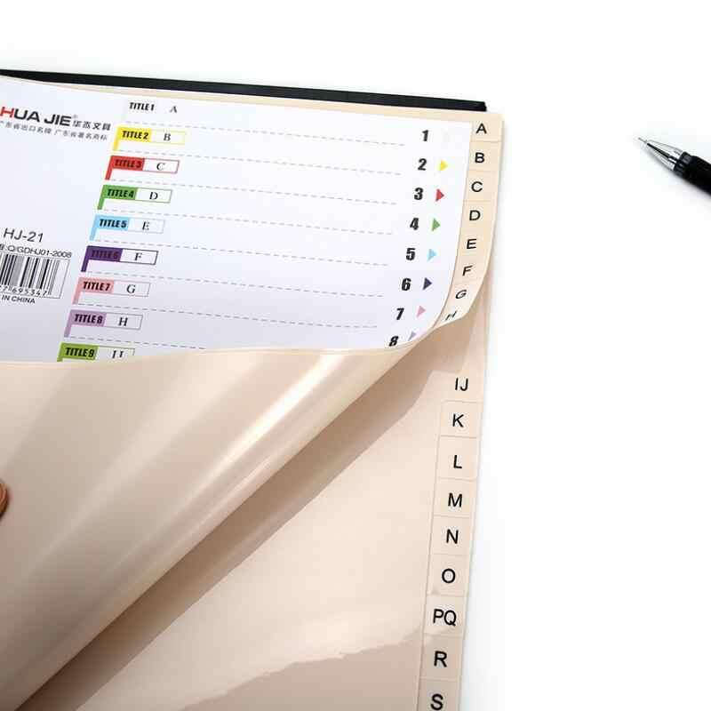 جديد 31 صفحة/حزمة 11 ثقوب A4 كوميكس الموثق الداخلية صفحة فواصل مجموعة ل دوامة دفتر فضفاض ورقة مؤشر ورقة اللوازم المكتبية