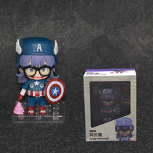 Anime Dr. Slump Arale Norimaki Cosplay Captain America Cute Girls Action Figures PVC Doll Model Toys