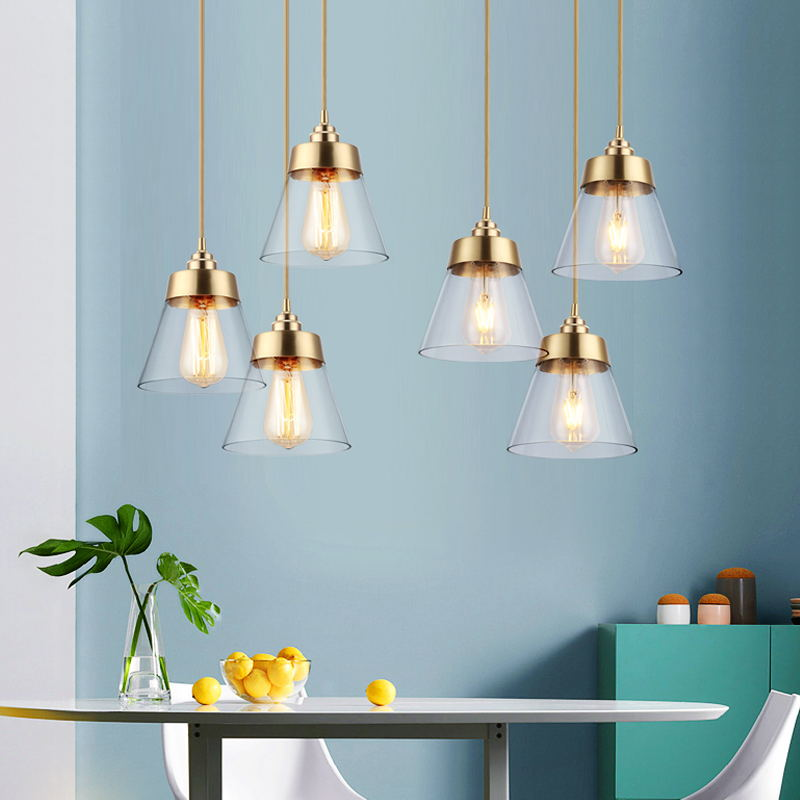 Modern simple glass Pendant Lights glass lampshade hanging lamp for Cafe/Bar/restaurant light fixture