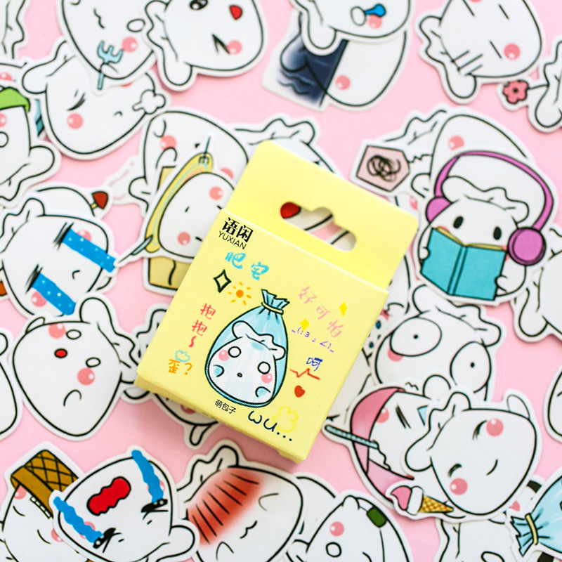 Cute Kawaii Custom Paper Small Japanese Diary Stickers Scrapbooking Flakes Stationery Teacher Supplies