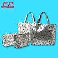 Designer Bao Bao Bags Tote Folded Quilted baobao Diamond Women Handbag bag Women 2016 Geometric Laser Bag Shoulder 2 pieces