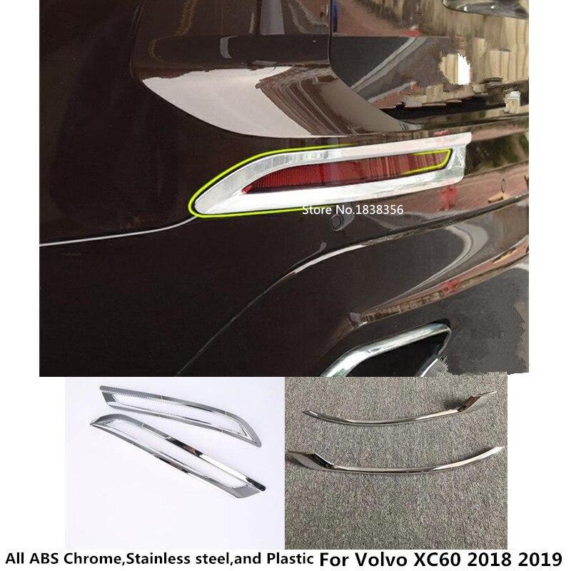 Horké pro Volvo XC60 2018 2019 karoserie detektoru karoserie ABS chrom kryt obložení zadní zadní ocas zadní mlhové světlo lampa rám držet 2ks