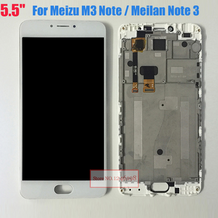 5 5 High Quality Touch Screen Digitizer LCD Display Assembly with Frame For Meizu M3 Note