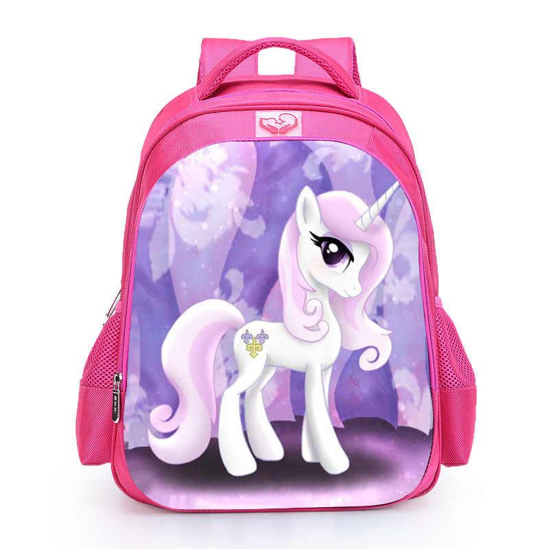2019 горячая Распродажа, школьные сумки с пони для девочек, детские школьные сумки, Мультяшные животные, книжный пакет, Детские рюкзаки, Mochila Escolar