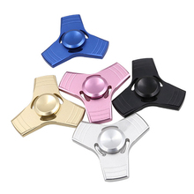 EDC Fidget Spinner UFO Tri-spinner Zinc Hand Spinner Aluminum Alloy Fidget Toy Anxiety Stress Adults Kid Metal Spinner B0002