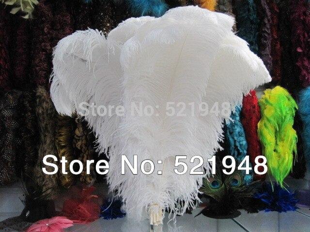 pas cher plume d autruche 50 pcs 20 22 pouces 50 55 cm couleur blanche plumage d autruche pour la decoration