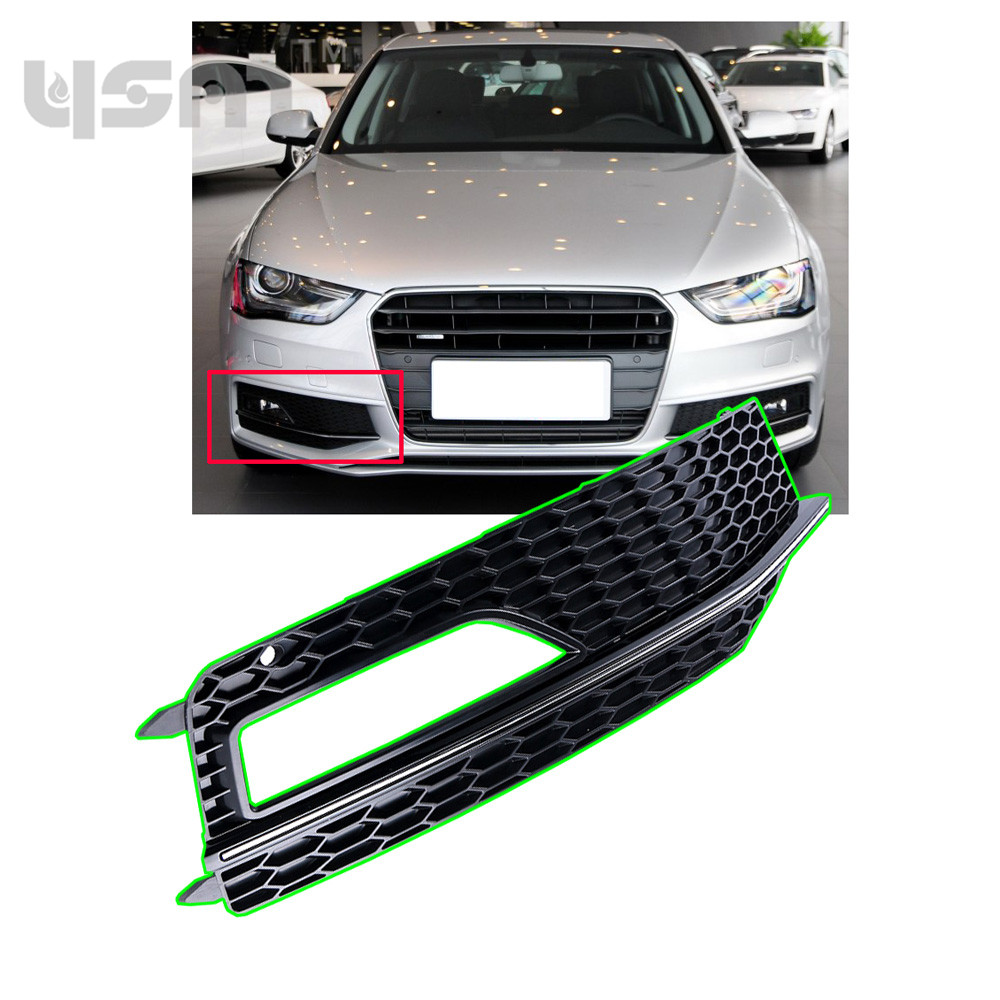 New Front Right Bumper Lower Fog Light Lamp Grill For Audi A4 S Line Fuse Box S4 13 15 Only 8k0807682p 8k0 807 682 P 682p In Bras From Automobiles