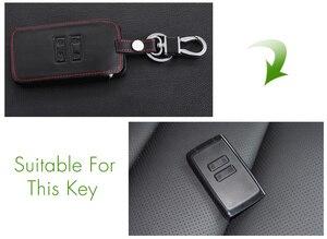 Image 2 - Thie2e Funda de cuero para llave de coche, cubierta de diseño de coche para Renault Kadjar Clio Logan Megane 1 2 3 Koleos tarjeta Scenic Keychain Case