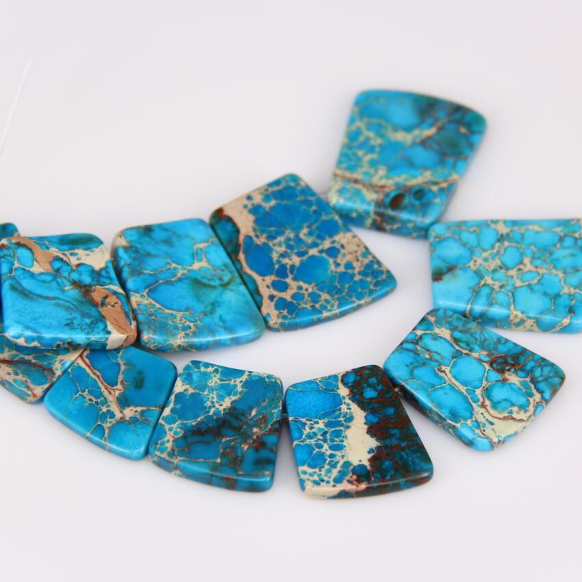 Gemstone 7 pcs graduated pendant loose beads set for necklace jewelry design