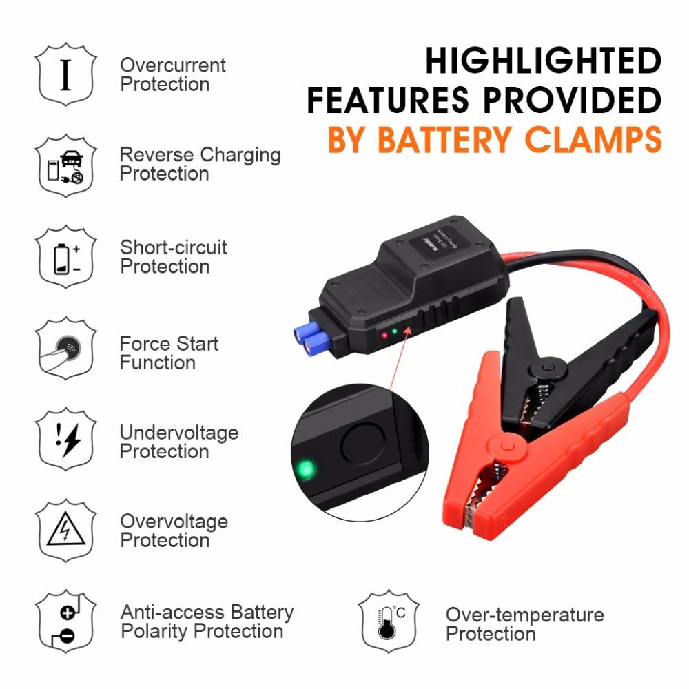 Suaoki U28 2000A Spitzen Jump Starter Pack Portable Power Bank LED Taschenlampe Smart Batterie Klemmen für 12V Auto Boot UNS EU AU Stecker - 5