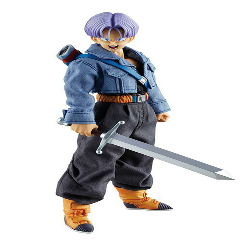 Dragon Ball Trunks Action Figure Real Clothes Ver. Trunks Doll PVC Action Figure Collectible Model Toy 19cm KT3534 1 6 figure doll journey to the west monks the monkey king 2 tang monk 12 action figure doll collectible figure toy model