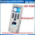 IP65 à prova d' água Controle de Acesso de Impressão Digital e Cartão rfid TCP IP Fingerprint controle de acesso com leitor de Cartão de IDENTIFICAÇÃO de Metal