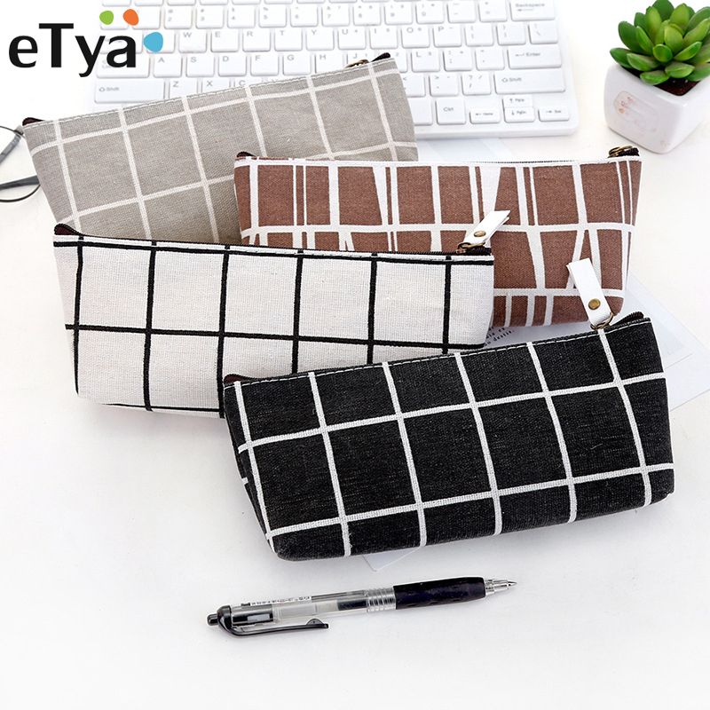 eTya New Fashion Women Cosmetic Bag Student Pencil Case Ladies Zipper Small Storage Bag Cosmetic Cases Makeup Bag Coin Pouch