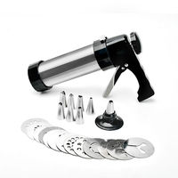 Cookie Presses Icing Kit Pastry Icing Piping Decorating Gun Biscuit Bread Cake Mold Set Kit Bakeware Kitchen Supplies