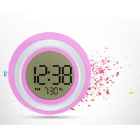 Digital Alarm Clock For Bedside With Backlight Color Changing When Push Top Ideal Gift For Kids