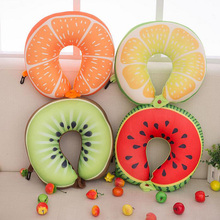 2018 Hot Sale Fruit U Shaped Pillow Cushion Nanoparticles Neck Pillow Car Travel Pillow Office