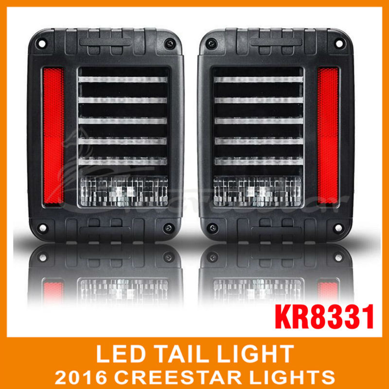 The Newest LED Tail Light With Brake Turning Reverse Light For Wrangler 07-16 Europe/US Type pair of it free shipping