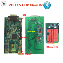 New Vci VD TCS CDP Plus Bluetooth V3.0 PCB Green Board Auto Scanner OBDII/OBD Professional Diagnostic Tool for cars and Trucks