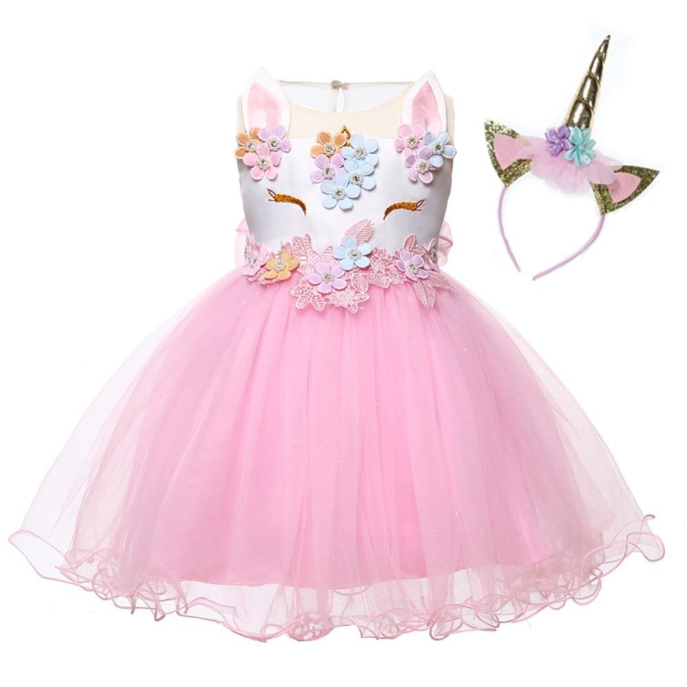 bbe06862dc573 Newborn Princess Dress Unicorn Baby Girls 1st Birthday Outfit ...