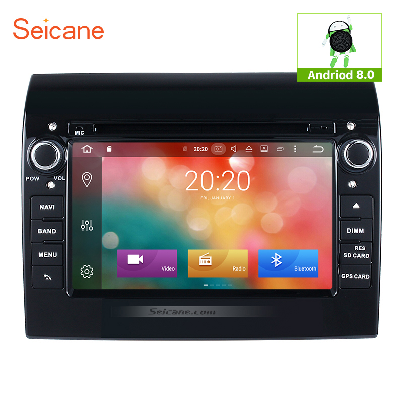 Seicane 2Din Android 8.0 7 pouces Autoradio GPS Navigation Tochscreen Multimédia Lecteur Tête Unité Pour 2007-2016 Fiat ducato