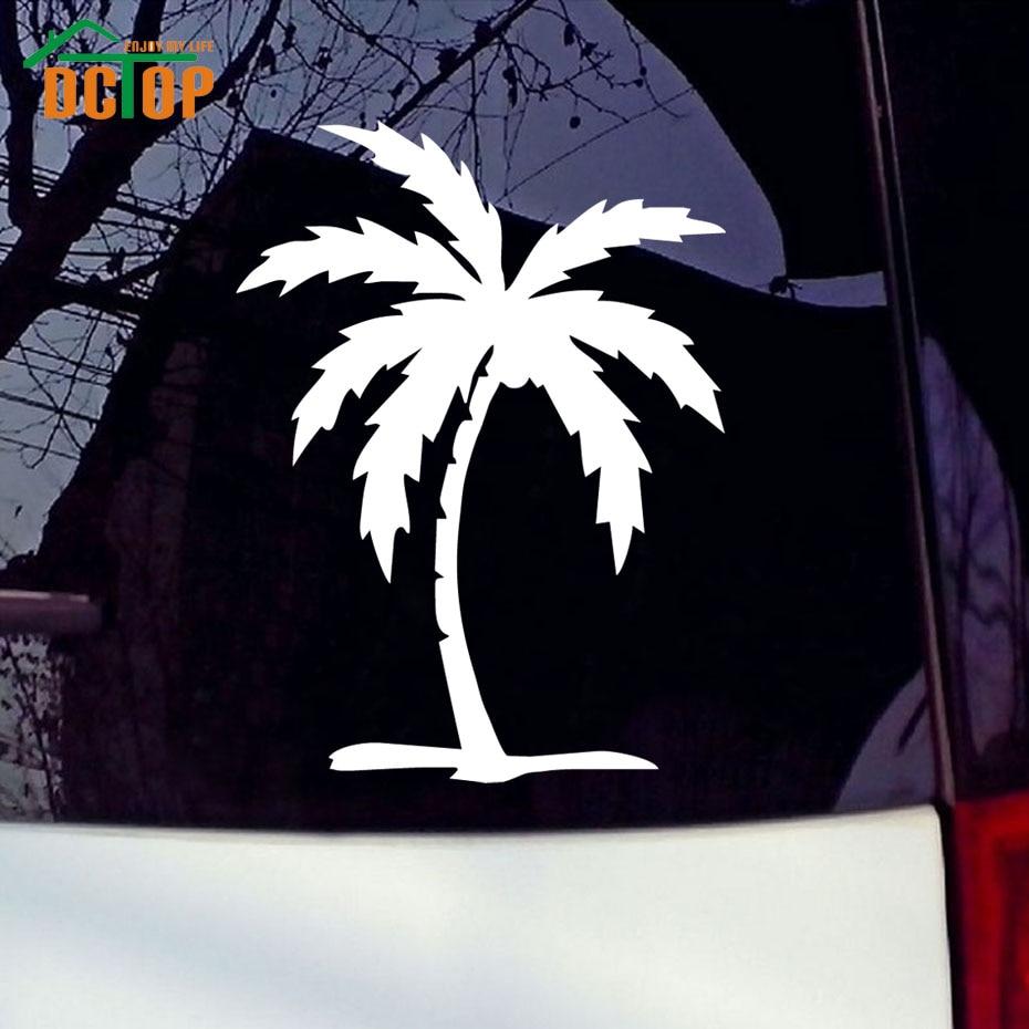 Design a car sticker online - Ocean Beach Palm Tree Car Stickers Vinyl Adhesive Window Car Decals Car Styling Decoration China