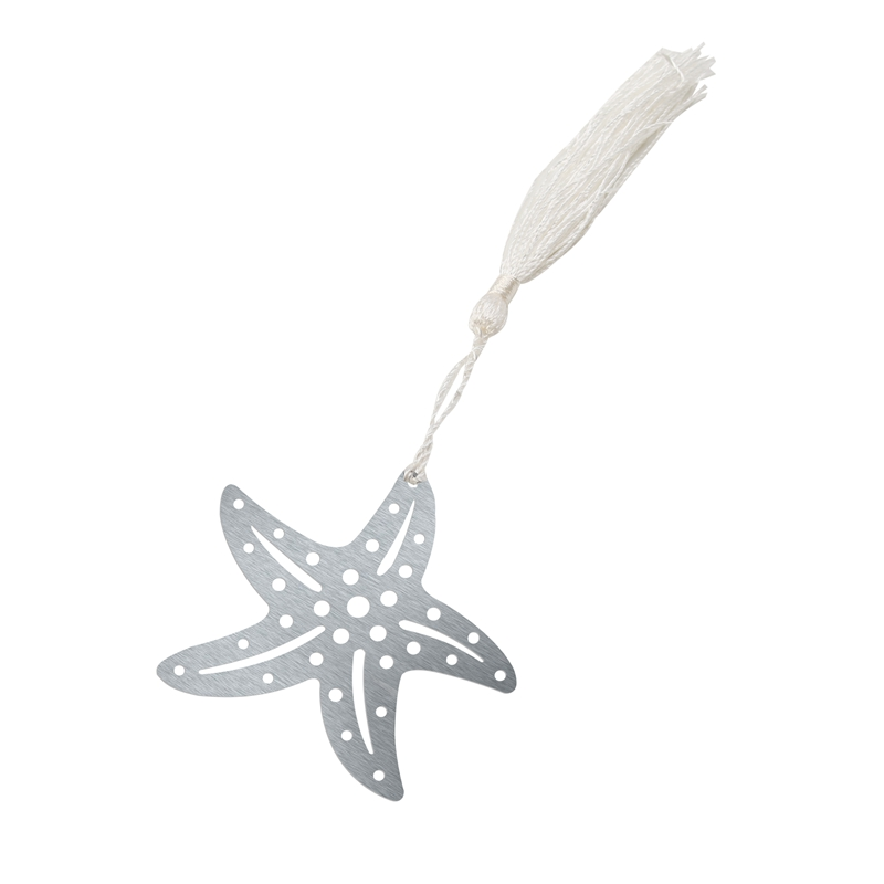 2018 Starfish Bookmarks Metal With Tassels Stationery Kids Gifts Wedding Favors(China)