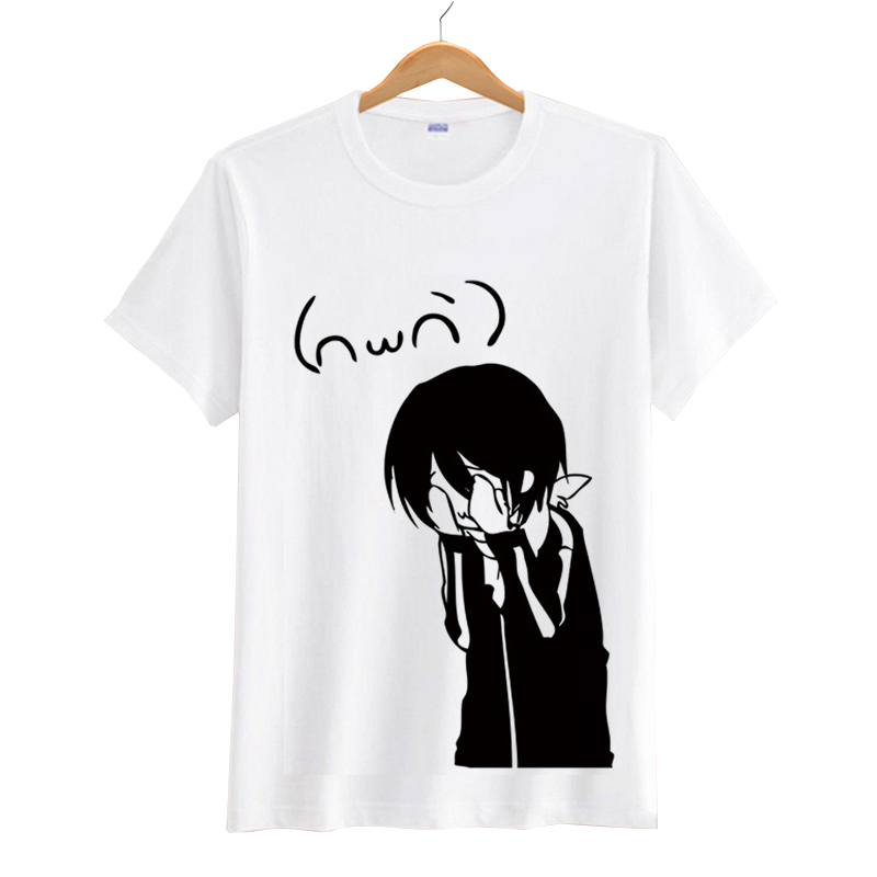 Anime Noragami Yato Short Sleeve T shirts Cosplay Costumes Men Women T-shirts Tops Short Sleeves Summer Tees
