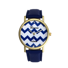 Resuli Fashion Women's Chevron Waves Style Quartz Leather Watch Watches Freeshipping & Wholesale #170717