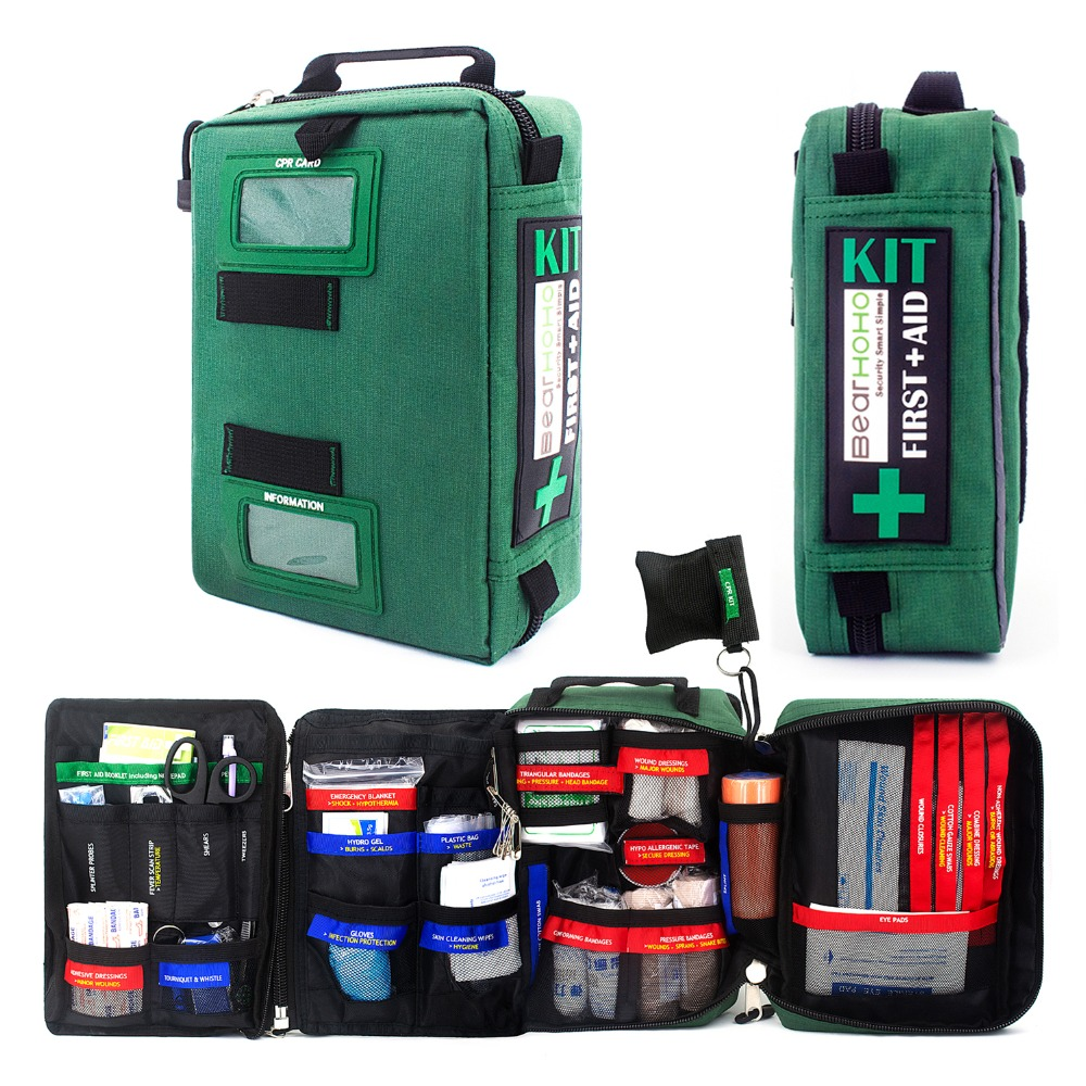 255Pcs Handy First Aid Kit Bag Lightweight Emergency Medical Rescue Bags For Home Outdoors Car Travel School Hiking Survival-in Emergency Kits from Security & Protection