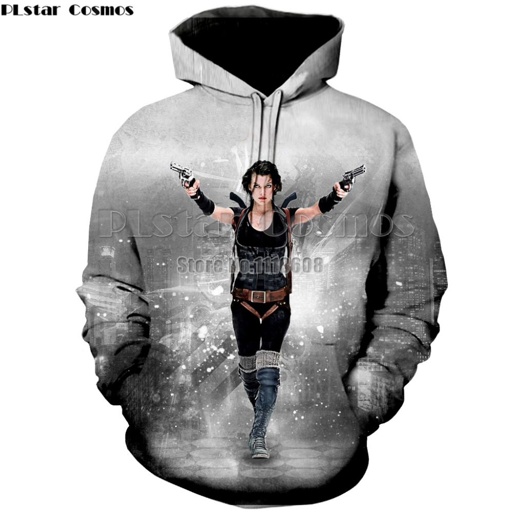 PLstar Cosmos  New hot sell thin Hoodie Resident Evil umbrella Hooded Coat Thicken Jacket hoodies Sweatshirt long sleeve new lik