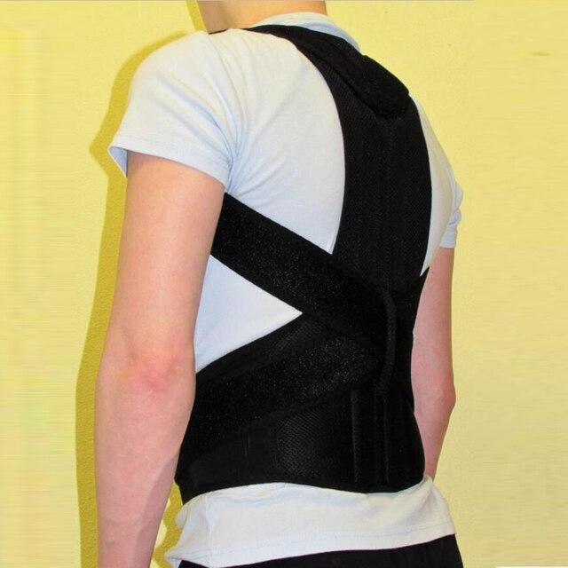 男性ショルダー痛み腰椎コルセットバックブレースベルトストラップ姿勢コレクター調整男性ベルト治療姿勢整形外科