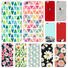 Case For iPhone X Cover Flower Print Clear Transparent Skin For Iphone 8 7  7 Plus a7c92919a