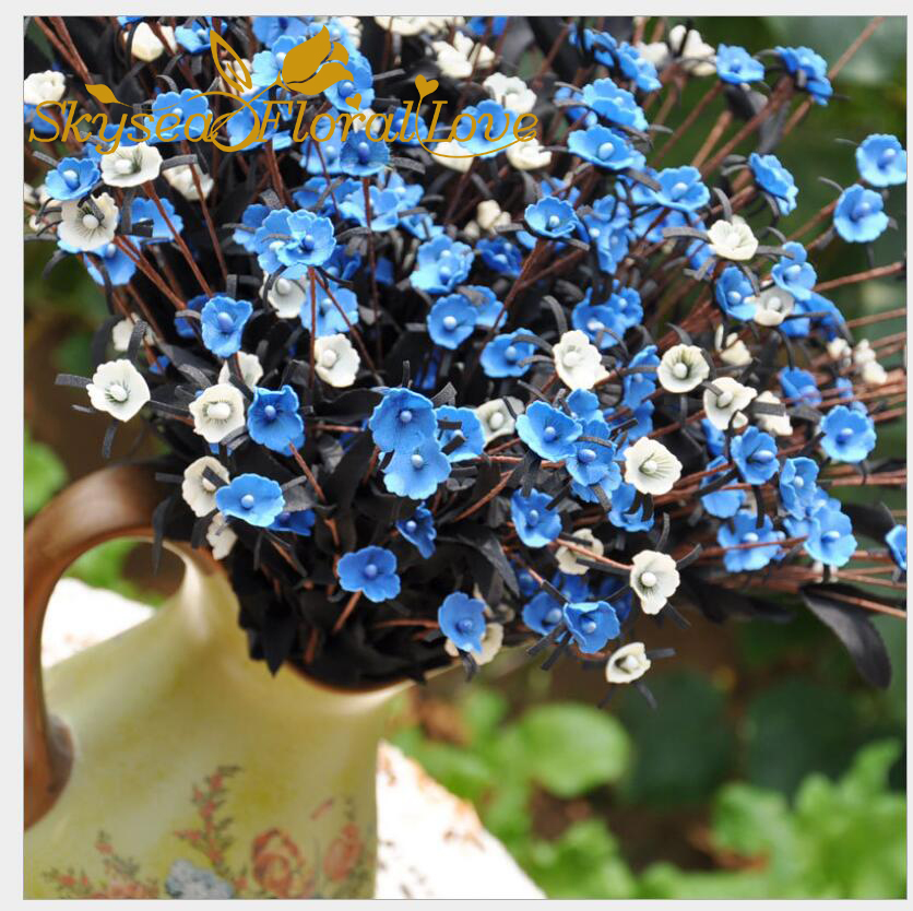 Silk flowers babybreath colorful bouquet home party wedding ...