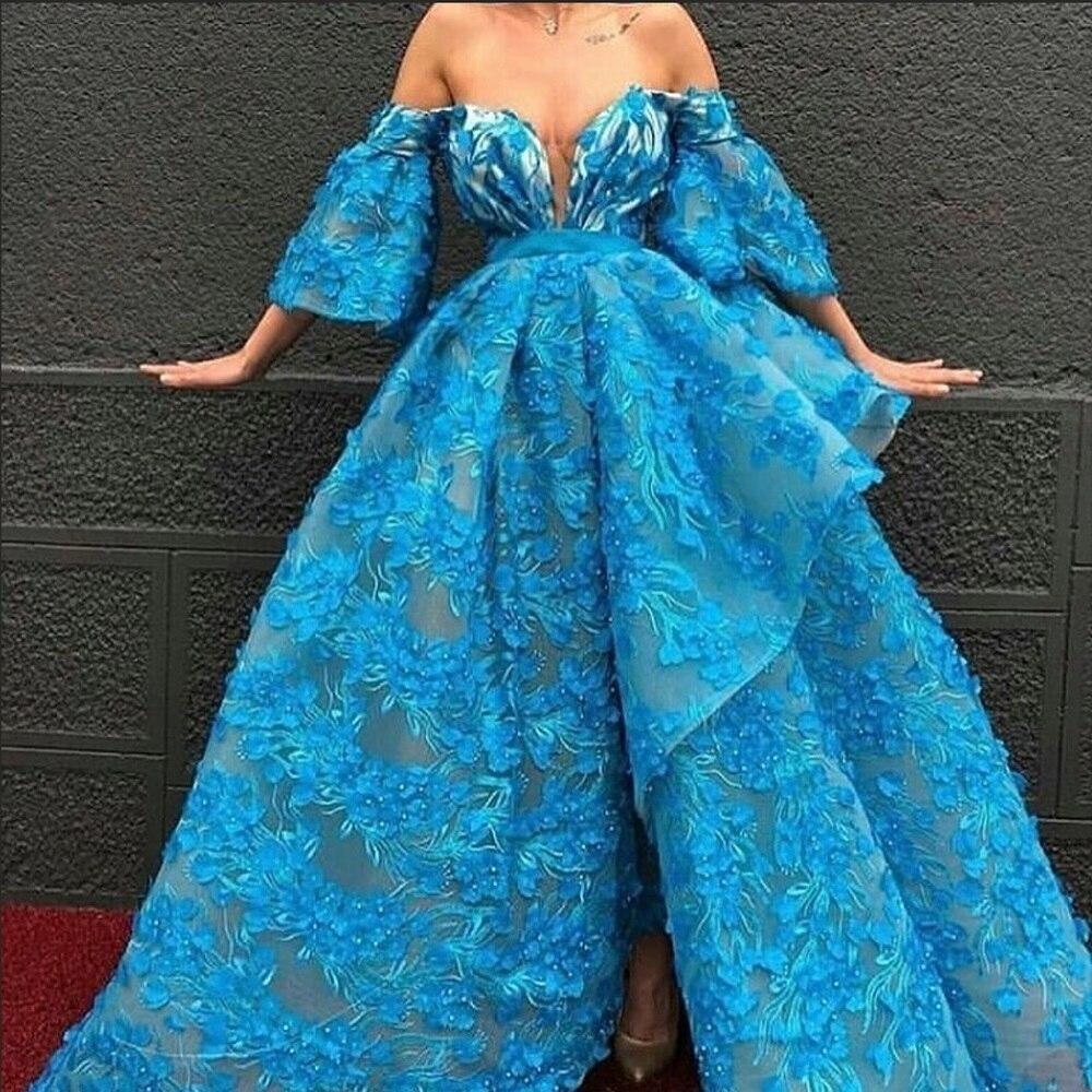 cd952ab83ad Vestidos de alfombra roja de sirena de talla grande de manga larga vestidos  de celebridades apliques