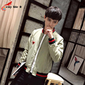 Breathable Slim Jacket Men's Baseball Uniform Mixed Colors Stand Collar 2016 Autumn Spring Jacket Coats autumn casual 3 Colors